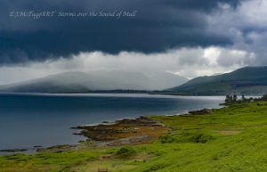 Stroms over the sound Mull July 2016