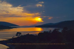 Sunset Fire over Ullapool June2016